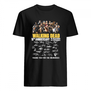 10th Anniversary Walking Dead thank you for the memories  Classic Men's T-shirt