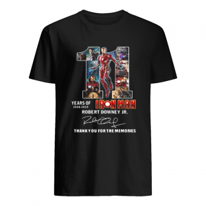 11 years of Iron Man 2008 2019 Robert Downey Jr signature  Classic Men's T-shirt