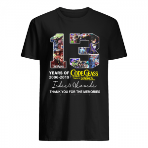 13 years of Code Geass 2006 2019 Ichiro Okouchi thank you  Classic Men's T-shirt