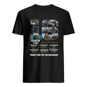 16 years of 2003 2019 5 movies Pirates of the Caribbean signature  Classic Men's T-shirt