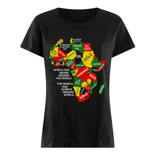 Africa has never needed the world the world has always needed Africa  Classic Women's T-shirt