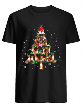 Basenji Christmas Tree T-Shirt