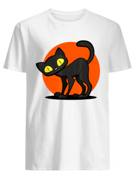 Beautiful Scary Halloween cute Black Cat Women Men Kids Gift shirt