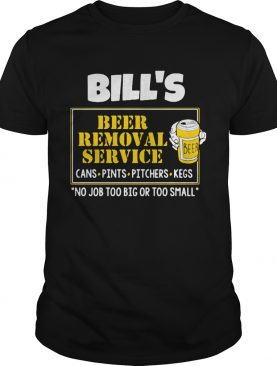 Bills beer removal service shirt