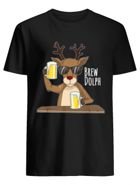 Brew Dolph Rudolph Christmas Holiday T-Shirt