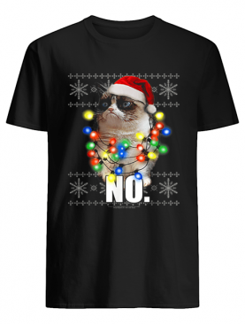 Cat Ugly Sweater NO Christmas Lights shirt