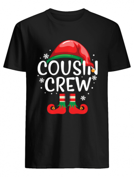 Cousin Crew Shirt Gift ELF Matching Family Christmas Ugly Long Sleeve T-Shirt