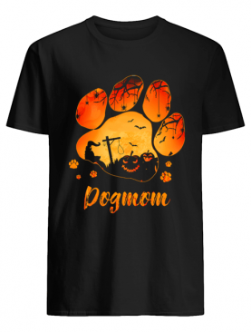 Dog Paw Dog Mom Halloween T-Shirt