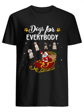 Dogs for everybody Santa Claus Christmas shirt
