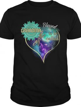 Dragonfly Blessed To Be Called Grandma TShirt