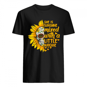 Flower Skull she is sunshine mixed with a little huricane  Classic Men's T-shirt