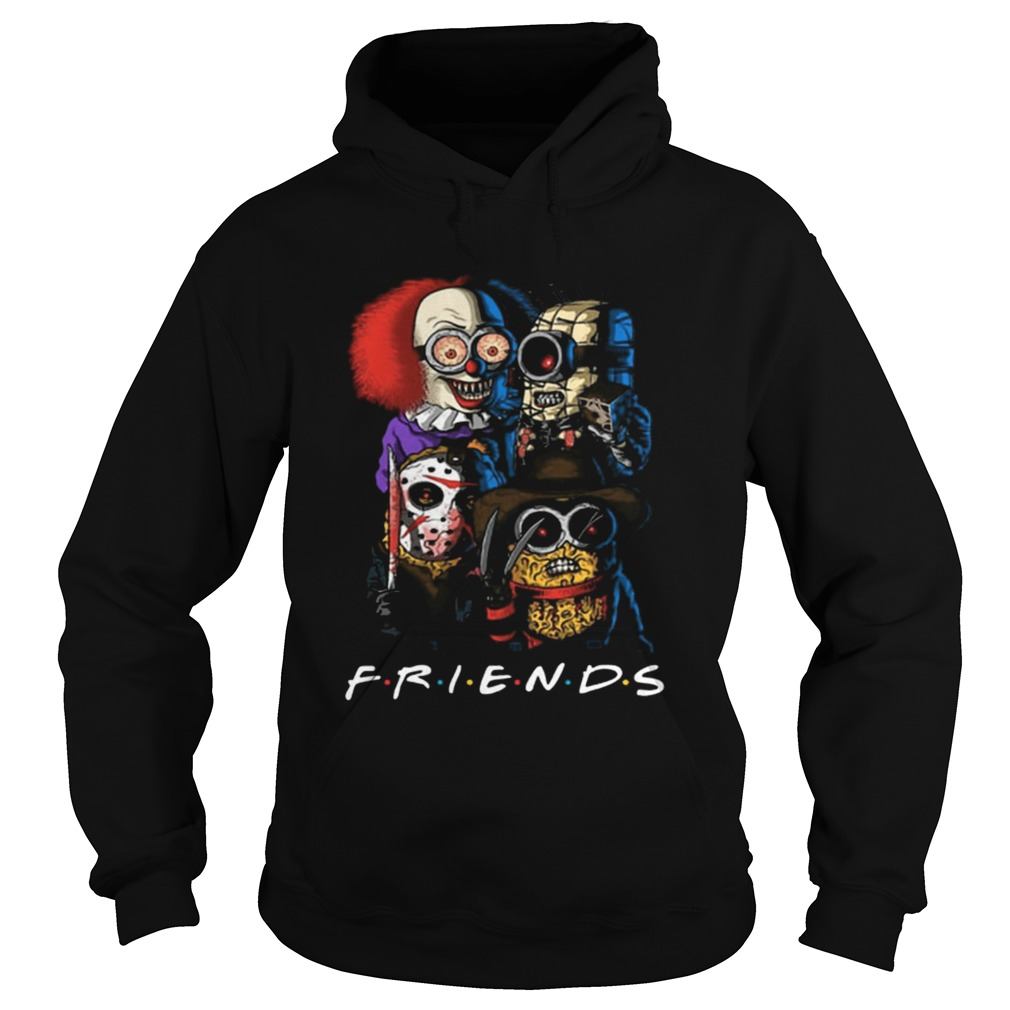 Friends Minions horror movie characters Hoodie