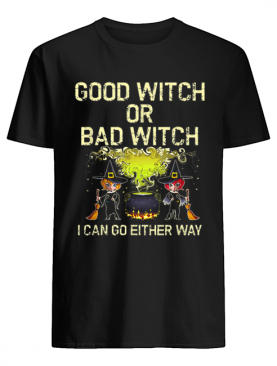 Good or Bad Witch Cute Womens Halloween shirt