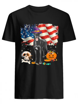 Great dane Dog Halloween Costume Gift Flag America T-Shirt