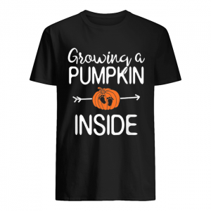 Growing a pumpkin inside pregnancy Pregnant halloween mom  Classic Men's T-shirt
