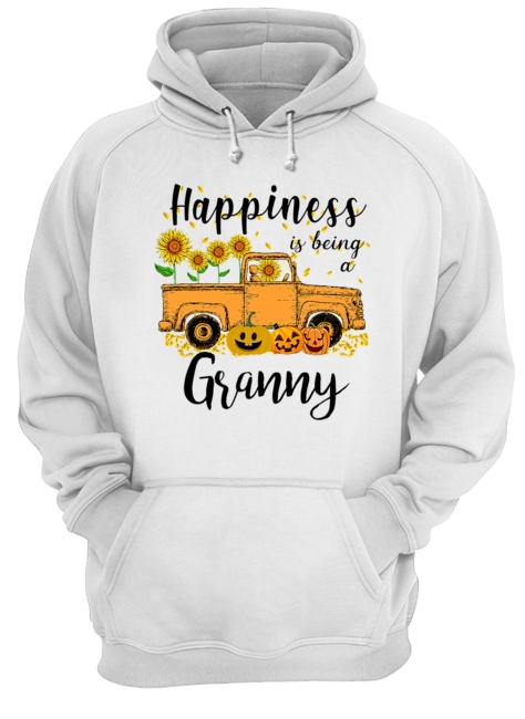 Halloween Car Pumpkin Happiness Is Being A Granny T-Shirt Unisex Hoodie
