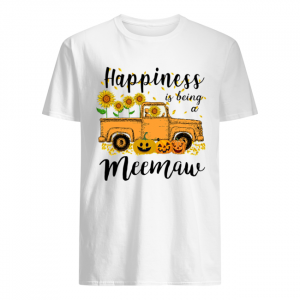 Halloween Car Pumpkin Happiness Is Being A Meemaw T-Shirt Classic Men's T-shirt