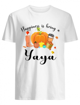 Halloween Pumpkin Happiness Is Being A Yaya T-Shirt