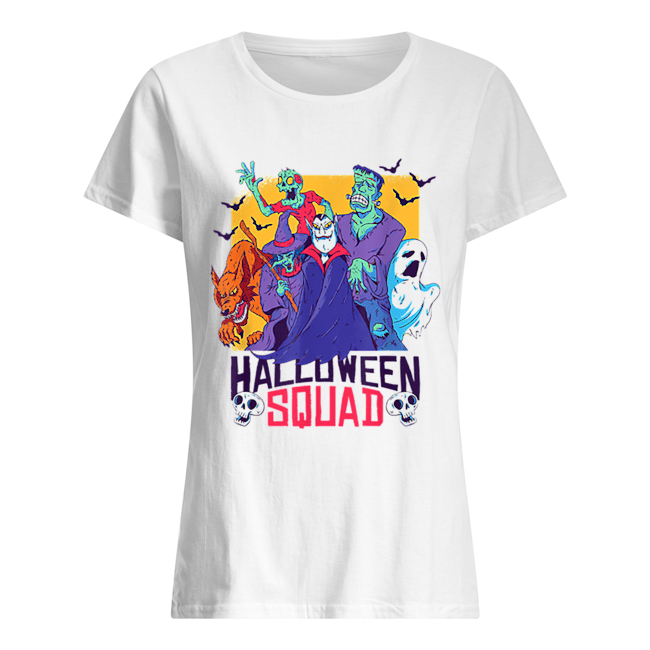Halloween Squad Spooky Scary Ghosts Classic Women's T-shirt