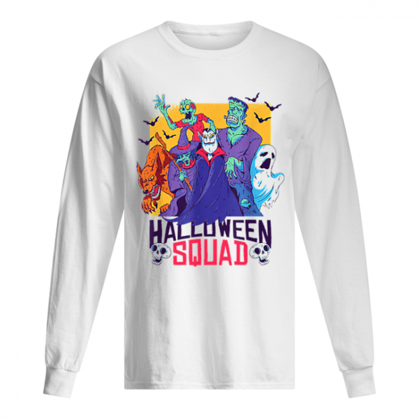 Halloween Squad Spooky Scary Ghosts  Long Sleeved T-shirt