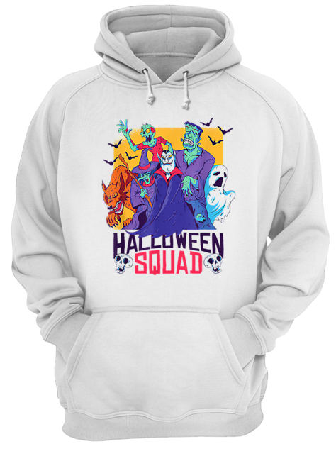 Halloween Squad Spooky Scary Ghosts  Unisex Hoodie