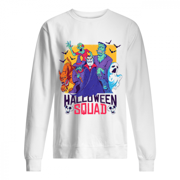 Halloween Squad Spooky Scary Ghosts  Unisex Sweatshirt