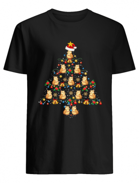Hamsters Christmas Tree Awesome Gift T-Shirt