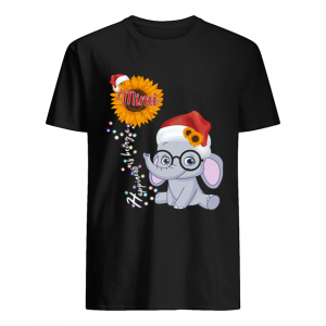 Happiness Is Being A Mimi Sunflower Elephant Christmas T-Shirt Classic Men's T-shirt