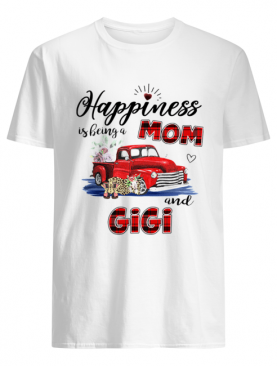 Happiness Is Being A Mom And Gigi Car Flower T-Shirt