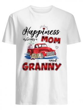 Happiness Is Being A Mom And Granny Car Flower T-Shirt