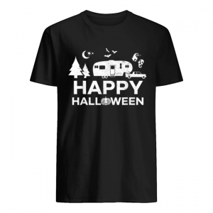 Happy Halloween Camping Fifth Wheel Camper RV Vacation  Classic Men's T-shirt