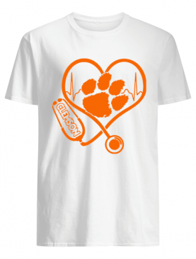 Heartbeat Nurse love Clemson Tigers shirt