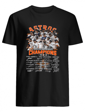 Houston Astros American Champions Players Signature Shirt