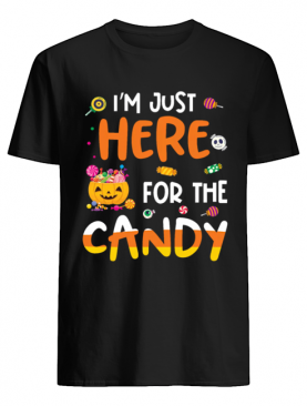 I am Just Here For The Candy Halloween T shirt Men's T-Shirt