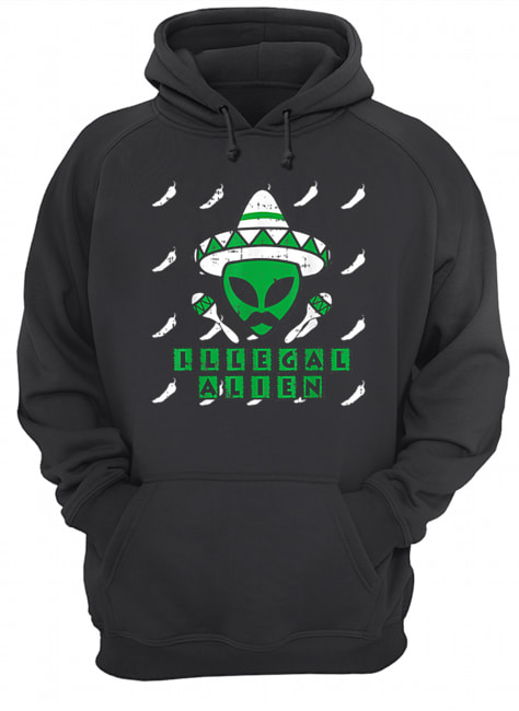 Martian Illegal Alien Mexican Area-51 Funny Halloween Gift  Unisex Hoodie