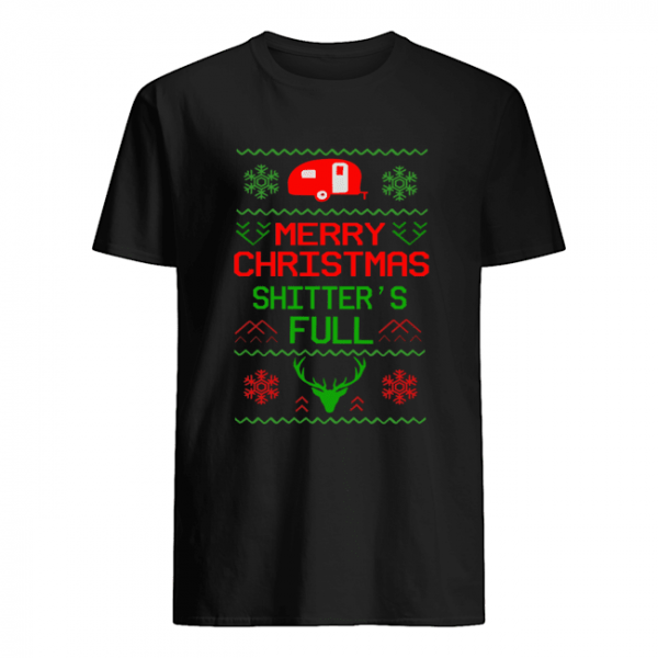 Merry Christmas Shitter's Full Camping Lover Gift T-Shirt Classic Men's T-shirt