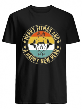 Merry fitmas and a happy new rear vintage shirt