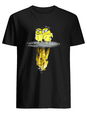Minion And Walter white and Jesse Breaking Bad Water Reflection shirt