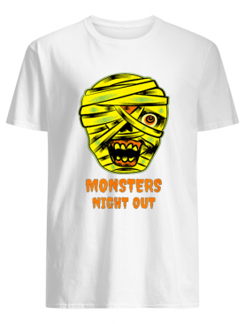 Monsters Night Out with Mummies Funny Easy Halloween Costume shirt