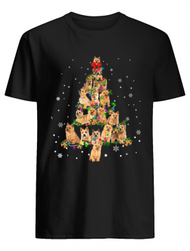 Norwich Terrier Christmas Tree T-Shirt
