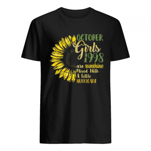 October Girls 1998 Are Sunshine Mixed With A Little Hurricane Sunflower T-s Classic Men's T-shirt