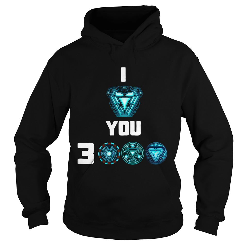 Official I love you 3000 Iron man heartbreaker Hoodie