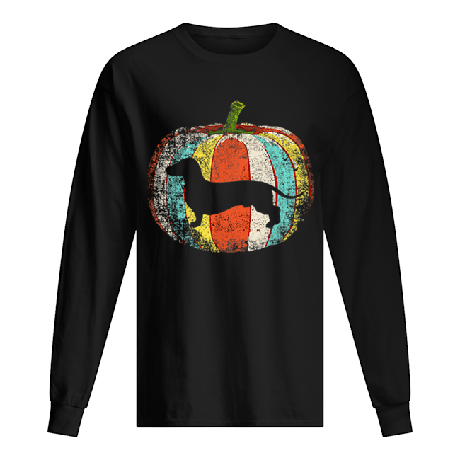 Original Vintage dachshund Pumpkin Halloween Costume dachshund Long Sleeved T-shirt