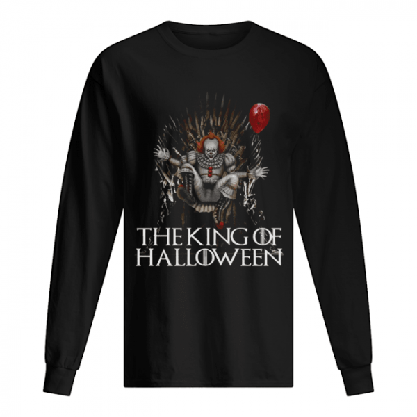 Pennywise The King Of Halloween  Long Sleeved T-shirt