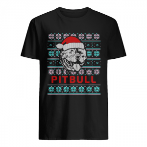 Pitbull Ugly Christmas Dog Gift T-Shirt Classic Men's T-shirt