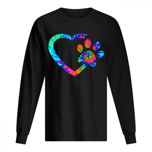Rainbow Inspired Dog Paw Print Gift T-Shirt Long Sleeved T-shirt