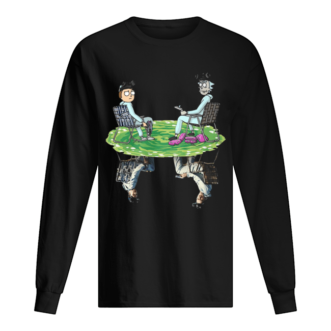 Rick and Morty Crossover Walter and Jesse Breaking Bad Long Sleeved T-shirt