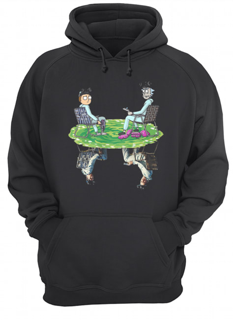Rick and Morty Crossover Walter and Jesse Breaking Bad  Unisex Hoodie