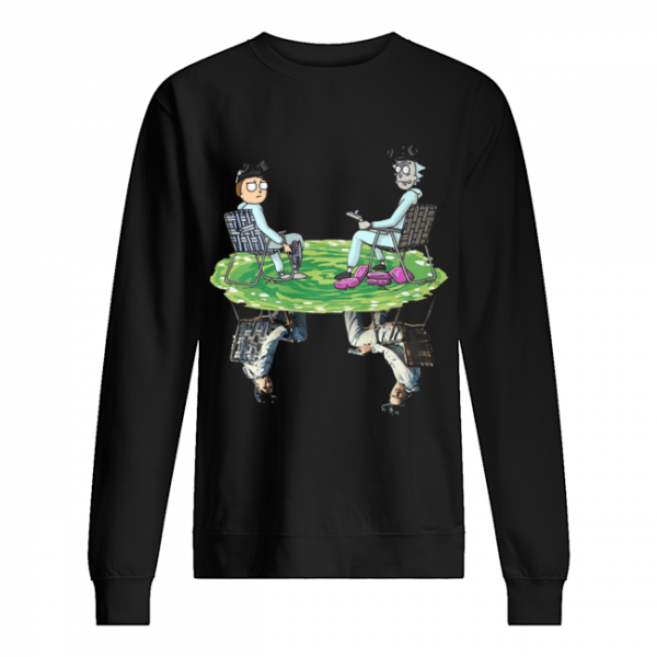 Rick and Morty Crossover Walter and Jesse Breaking Bad  Unisex Sweatshirt