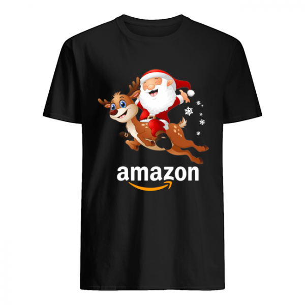 Santa Claus riding reindeer Amazon  Classic Men's T-shirt